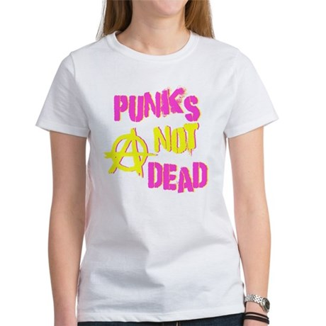 Punks Not Dead Womens T-Shirt