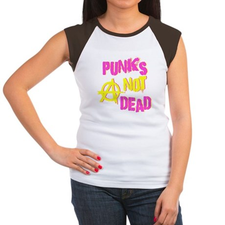 Punks Not Dead Womens Cap Sleeve T-Shirt