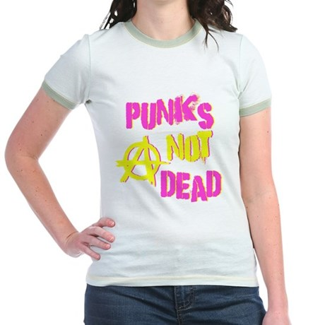 Punks Not Dead Jr Ringer T-Shirt