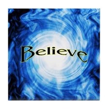 Believe Vortex Tile Coaster