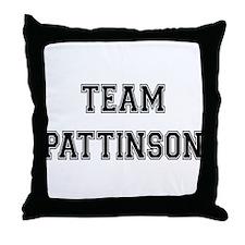 Team Pattinson Throw Pillow