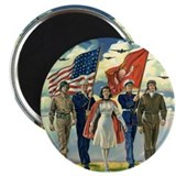 Vintage 4th of July 2.25&amp;quot; Magnet (10 pack)
