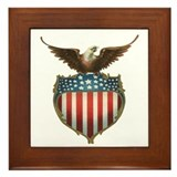 Vintage 4th of July Framed Tile