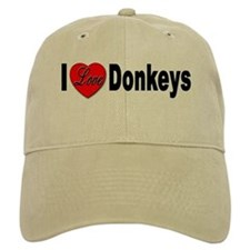 I Love Donkeys Baseball Cap