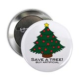 Save a Tree Holiday Button