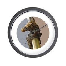 Brass Horse Head Wall Clock