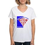 American Kitefliers Associati Women's V-Neck T-Shi