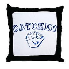 Catcher - Blue Throw Pillow