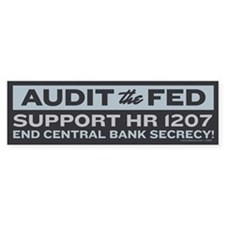 Audit the Fed Bumper Bumper Sticker