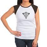 Classic Black and White Ameri Women's Cap Sleeve T