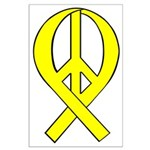 Yellow Peace Ribbon Large Poster