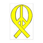Yellow Peace Ribbon Mini Poster Print