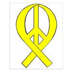 Yellow Peace Ribbon Small Poster