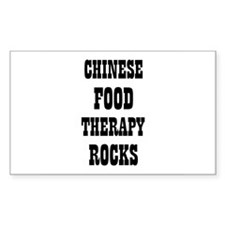 CHINESE FOOD THERAPY ROCKS Rectangle Decal