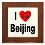 I Love Beijing Framed Tile