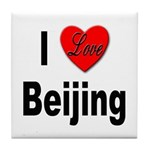 I Love Beijing Tile Coaster