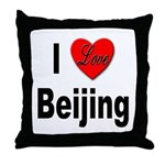 I Love Beijing Throw Pillow