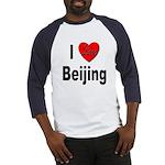 I Love Beijing (Front) Baseball Jersey