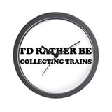 Rather be Collecting Trains Wall Clock