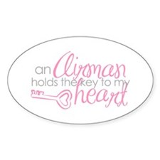 Key to my heart Oval Decal