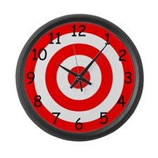Numbered Target Large Wall Clock