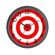 Numbered Target Wall Clock