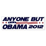 Anyone But Obama Bumper Bumper Sticker