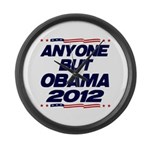 Anyone But Obama Large Wall Clock