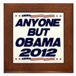 Anyone But Obama Framed Tile