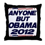 Anyone But Obama Throw Pillow