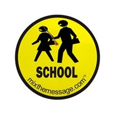"School 3.5"" Button"