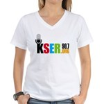 KSER Women's V-Neck T-Shirt