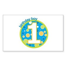 first birthday boy t-shirts Rectangle Decal