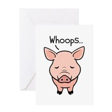 Swine Flu Greeting Card