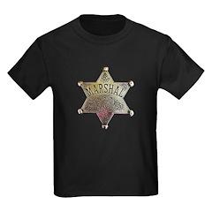 Old West Marshal Kids Dark T-Shirt