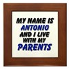 my name is antonio and I live with my parents Fram