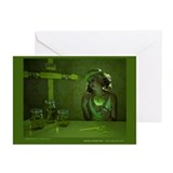 Green Madonna Greeting Cards (Pk of 10)