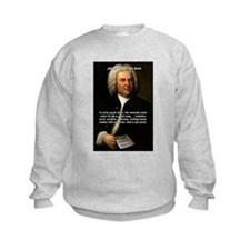 Composer J.S. Bach Kids Sweatshirt