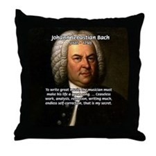 Composer J.S. Bach Throw Pillow