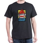 Sock Monkey Black T-Shirt