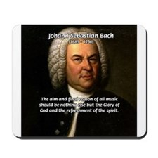 Glory God Music J. S. Bach Mousepad