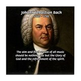 Glory God Music J. S. Bach Tile Coaster