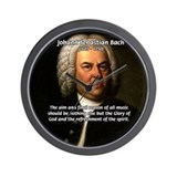 Glory God Music J. S. Bach Wall Clock