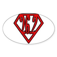 Superman the Runner Oval Decal