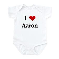 I Love Aaron Infant Bodysuit