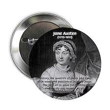 "Women in History Jane Austen 2.25"" Button (100 pac"