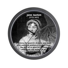 Women in History Jane Austen Wall Clock