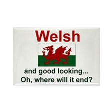"Good Looking Welsh Magnet (3""x2"")"