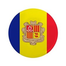 "Flag of Andorra 3.5"" Button (100 pack)"