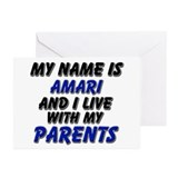 my name is amari and I live with my parents Greeti
